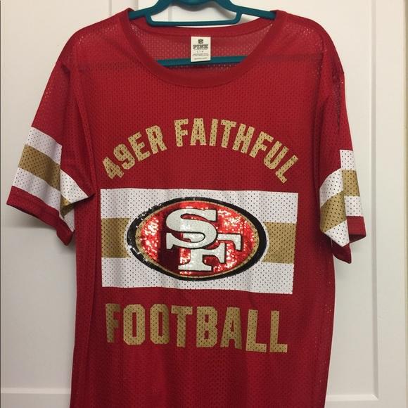 """100% authentic d352c c1d56 Victoria """"Pink"""" 49ers Faithful Jersey"""